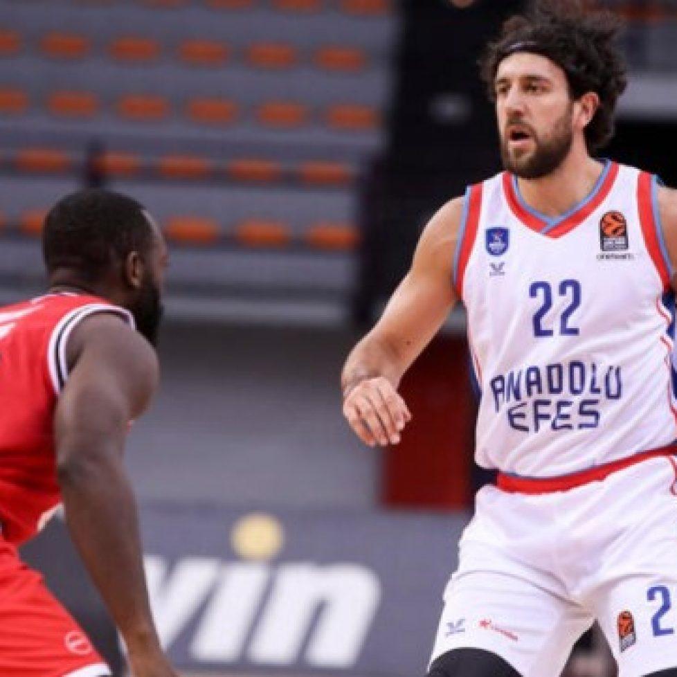Анадолу Ефес победи Олимпиакос в мач от шестия кръг на Евролигата по баскетбол за мъже bet365