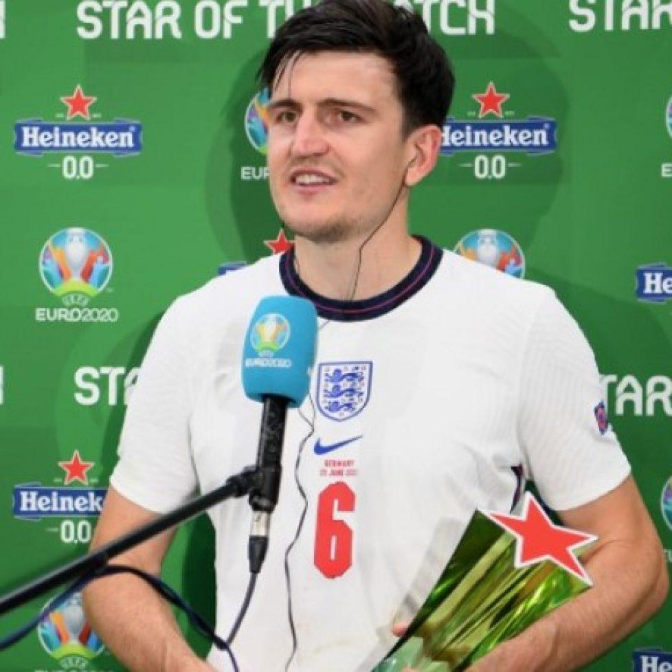 Хари Магуайър беше избран за Играч на мача при успеха на Англия над Германия bet365